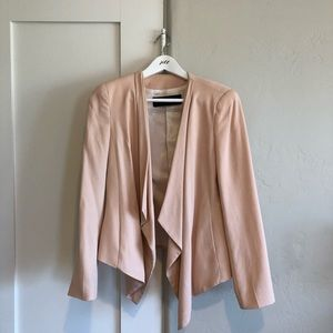 💛 euc | Zara | pink waterfall front blazer